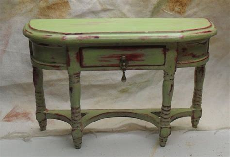green shabby chic furniture shabby chic distressed miniature green hall table miniature furniture pinterest miniature