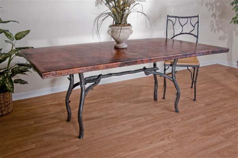 copper and iron dining table copper furniture free shipping