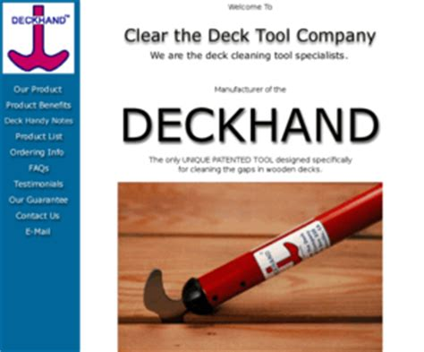 clearthedeckcom clear  deck tool company maker