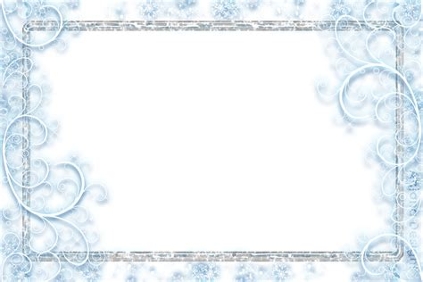 Transparent Background Snowflake Border by Snowflake Frame Wallpapers High Quality Free