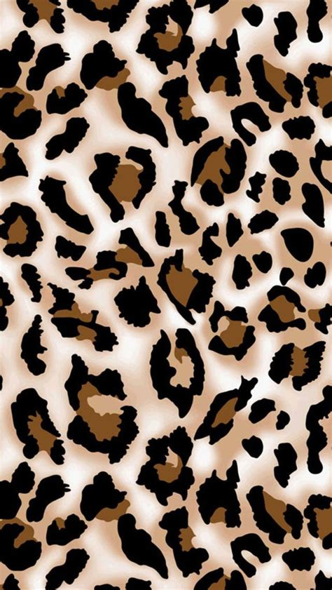 Brown Animal Print Wallpaper - brown black leopard phone leopards