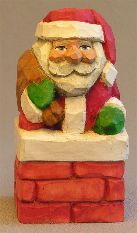 santa  chimney woodcarving wood carving patterns wood