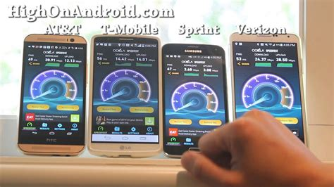 mobiles klimagerät test at t vs t mobile vs sprint vs verizon 4g lte speed t