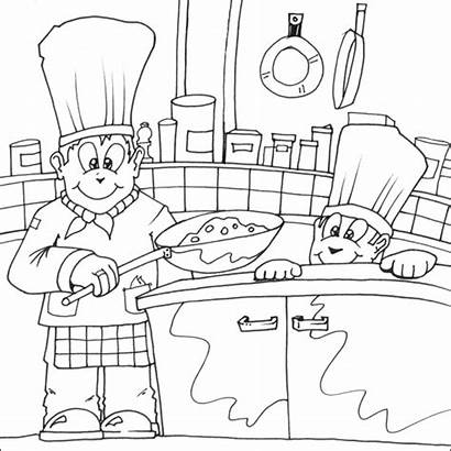 Chef Coloring Pages Cooking Colouring Printable Chefs