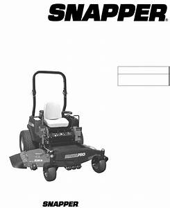 Snapper Lawn Mower Nzmj25613kh User Guide