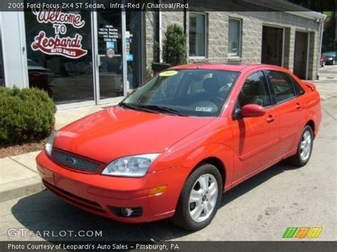 infra red 2005 ford focus zx4 st sedan charcoal red