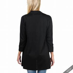 Womens Ladies Oversize Waterfall Boyfriend Open Blazer ...
