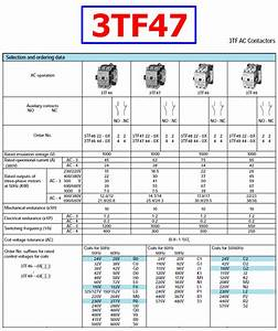 3tf47 Datasheet - 600v  63a  Magnetic Contactor