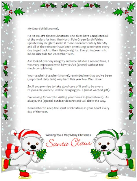 frugal mom  wife  personalized letter  santa