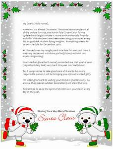 free letter from santa template new calendar template site With a letter from santa claus