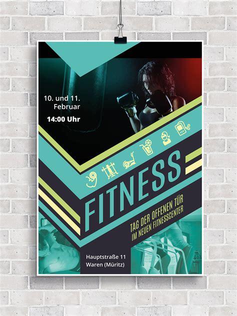 flyer vorlagen fuer fitness sport und fitnessstudios zum