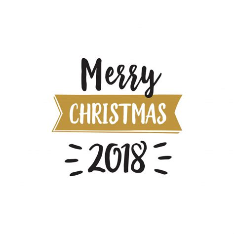 merry christmas 2018 celebration lettering vector free download