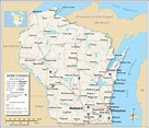 Map of the State of Wisconsin, USA - Nations Online Project