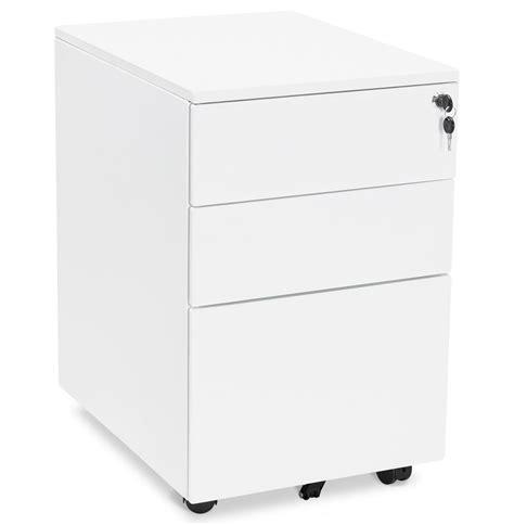caisson de bureau blanc caisson de rangement dali blanc à tiroirs pour bureau