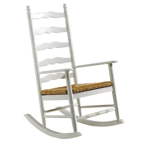 le rocking chair en pin massif teint 233 blanc et assise