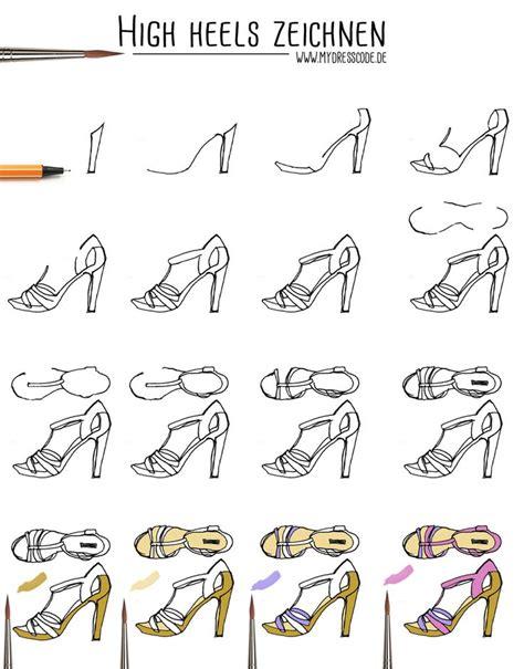 anleitung highheels schuhe zeichnen illustration fashion