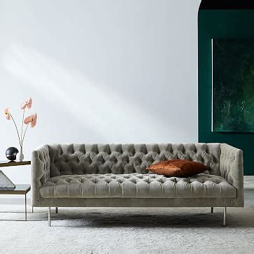 modern chesterfield sofa  west elm