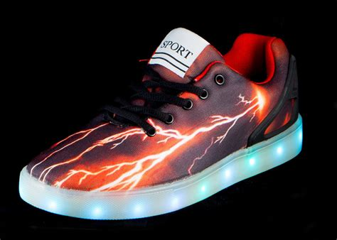 light up sneakers for youth big kids led light up shoes pulsar black red cheap sale