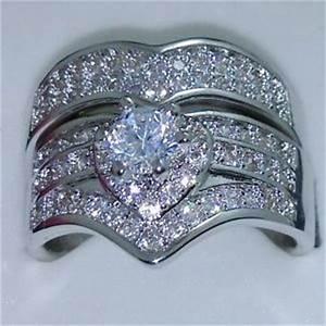 luxury gift 10kt gold filled white topaz diamonique With diamonique wedding ring sets