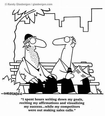 Sales Cartoons Success Goals Glasbergen Motivational Motivation