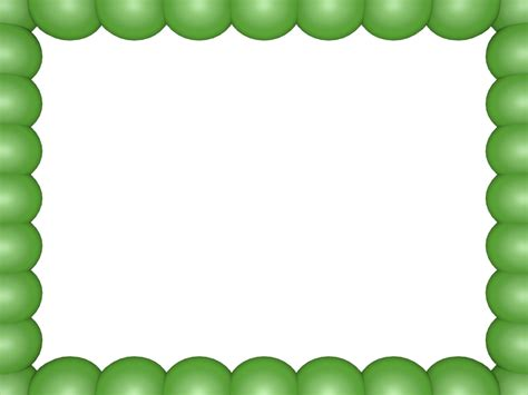 3d Border Backgrounds by Light Green Bubbly Pearls Rectangular Powerpoint Border