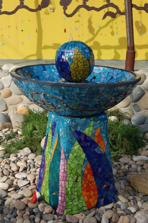 mosaic garden water fountainwater   gardenwhat