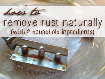 How To Remove Rust Naturally  Sustainable Baby Steps