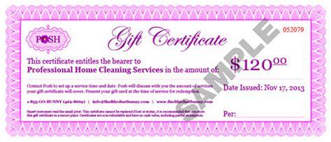 posh gift certificates