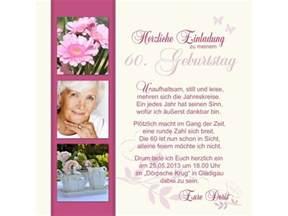 foto einladungskarten hochzeit einladungskarte 60 geburtstag zweiseitig creme pink