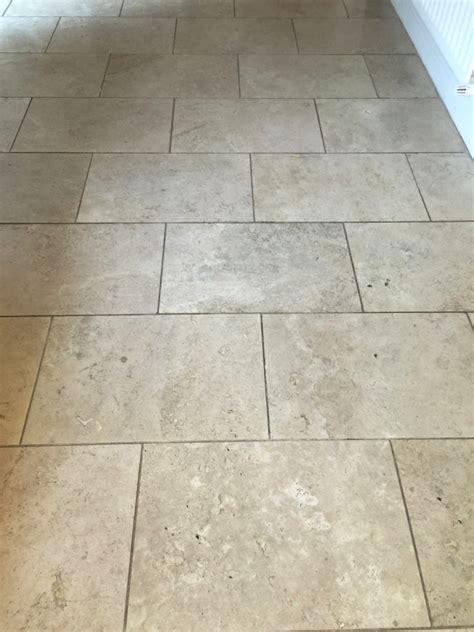 restoring travertine kitchen tiles  east byfleet tile