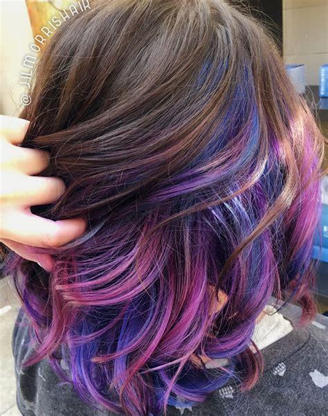 Rainbow Unicorn Hair Purple Pink And Blue Underlights