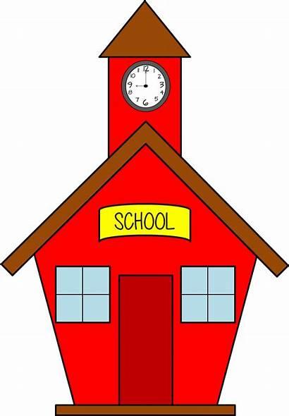 Clipart Schoolhouse Clip Christmas
