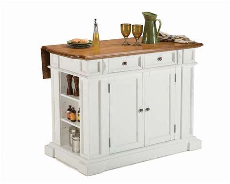 ilots de cuisine mobile home styles îlot de cuisine blanc pur à abattant fini