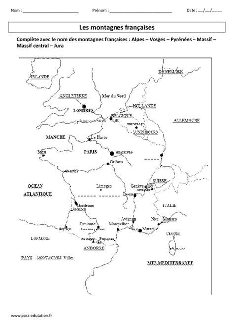 Carte Montagne Cycle 3 by Montagnes Fran 231 Aises Ce2 Exercices Corrig 233 S