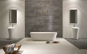 revetement mural salle de bain contemporain salle de With salle de bain design contemporain
