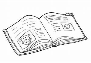 Dibujo Para Colorear Libro Leer 2 Img 14984