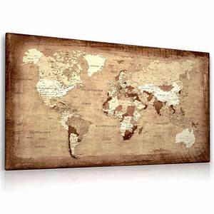 Weltkarte Bild Holz : 25 b sta id erna om weltkarte leinwand p pinterest ~ Lateststills.com Haus und Dekorationen