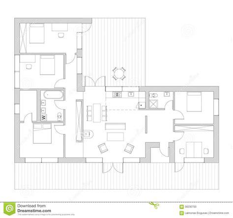 Pianta Casa Unifamiliare by Ot Della Pianta La Casa Vivente Illustrazione Di Stock