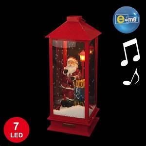 Lanterne Deco Interieur : lanterne lumineuse avec p re no l anim 48cm d coration de no l d coration d coration ~ Teatrodelosmanantiales.com Idées de Décoration