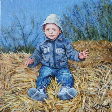portrait sur toile a partir d une photo pin peinture acrylique visage africain ii 50x61cm peintures par on