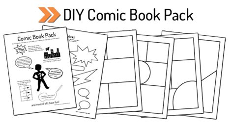 make your own comic template printable diy comic book pack and drawing resources create in the chaos
