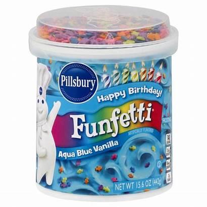 Pillsbury Frosting Funfetti Vanilla Aqua Heb Icing