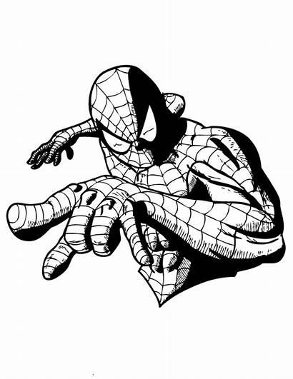 Coloring Spider Comic Superhero Spiderman Printable Colouring