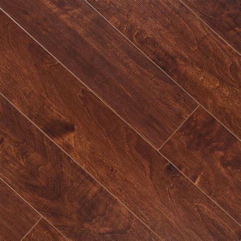 laminate wood flooring scraped hton bay hand scraped la mesa maple 8 mm thick x 5 5 8 in wide x 47 3 4 in length laminate