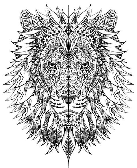 adult coloring book lion lion head adult coloring pages pinterest lion head