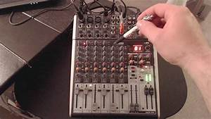 My Mixer Setup   Shorter Version  The Behringer Xenyx