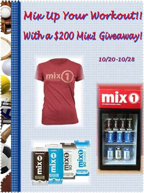 Mix Up Your Workout Out $200 Mix1 Giveaway Ends 1028