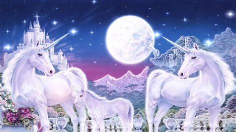 world  unicorn family royal gardens mountains