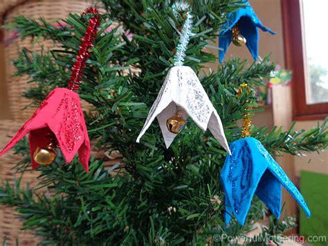 egg carton jingle bells christmas ornament craft