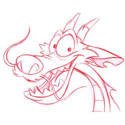 Mushu Drawing Disney Characters